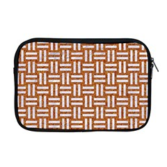 Woven1 White Marble & Rusted Metal Apple Macbook Pro 17  Zipper Case