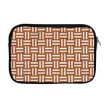 WOVEN1 WHITE MARBLE & RUSTED METAL Apple MacBook Pro 17  Zipper Case Front