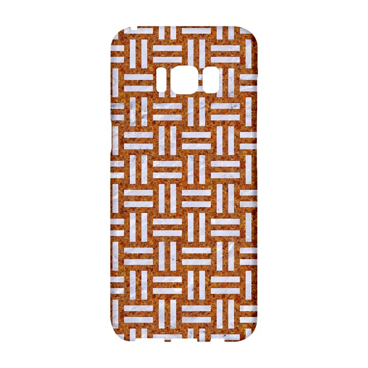 WOVEN1 WHITE MARBLE & RUSTED METAL Samsung Galaxy S8 Hardshell Case
