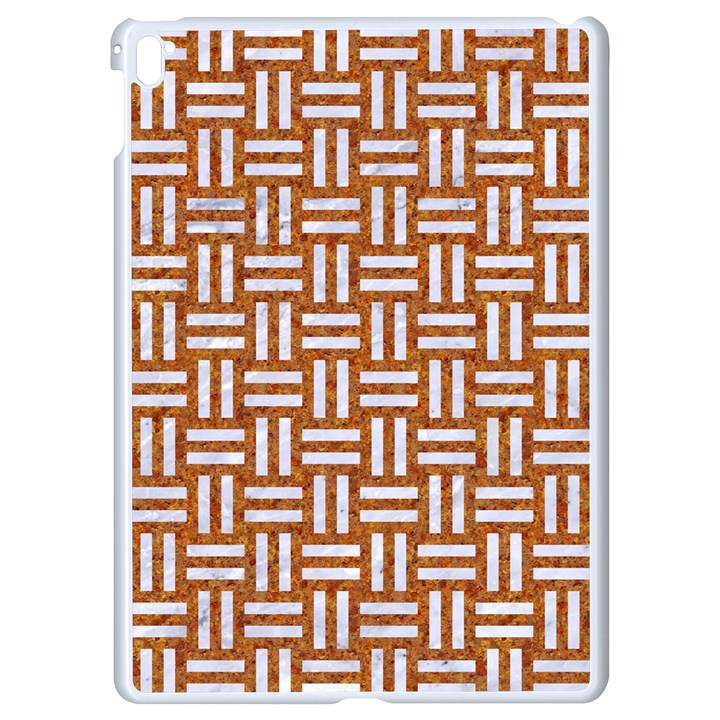 WOVEN1 WHITE MARBLE & RUSTED METAL Apple iPad Pro 9.7   White Seamless Case