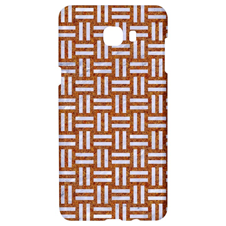 WOVEN1 WHITE MARBLE & RUSTED METAL Samsung C9 Pro Hardshell Case