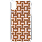 WOVEN1 WHITE MARBLE & RUSTED METAL Apple iPhone X Seamless Case (White) Front