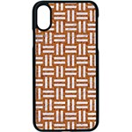WOVEN1 WHITE MARBLE & RUSTED METAL Apple iPhone X Seamless Case (Black) Front