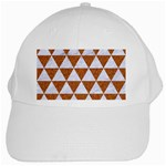 TRIANGLE3 WHITE MARBLE & RUSTED METAL White Cap Front