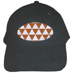 TRIANGLE3 WHITE MARBLE & RUSTED METAL Black Cap Front
