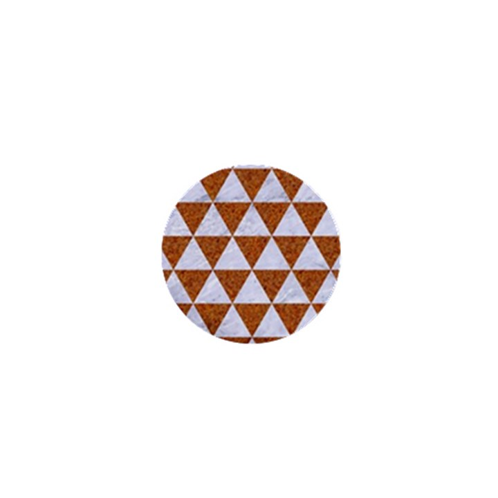 TRIANGLE3 WHITE MARBLE & RUSTED METAL 1  Mini Buttons