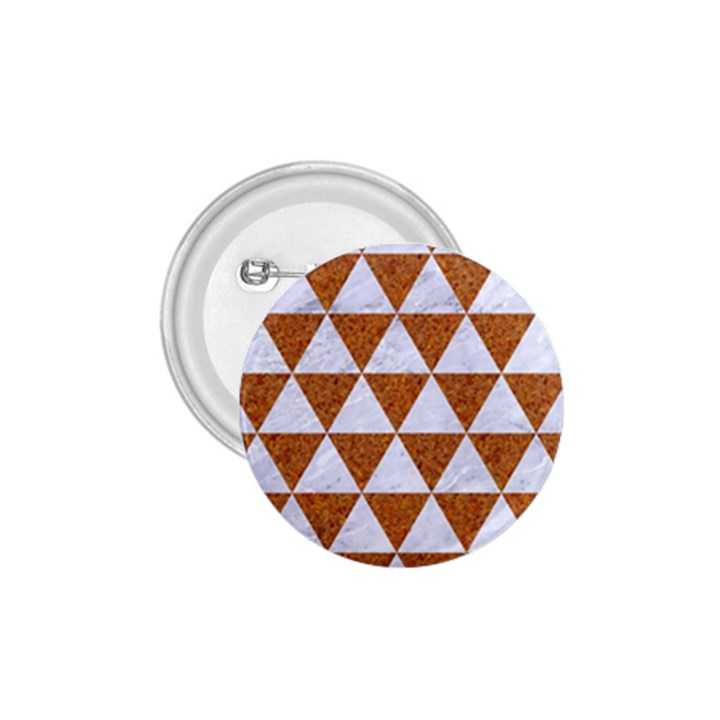TRIANGLE3 WHITE MARBLE & RUSTED METAL 1.75  Buttons