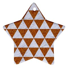 Triangle3 White Marble & Rusted Metal Ornament (star)