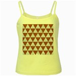 TRIANGLE3 WHITE MARBLE & RUSTED METAL Yellow Spaghetti Tank Front