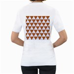 TRIANGLE3 WHITE MARBLE & RUSTED METAL Women s T-Shirt (White) (Two Sided) Back