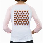 TRIANGLE3 WHITE MARBLE & RUSTED METAL Girly Raglans Back