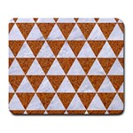 TRIANGLE3 WHITE MARBLE & RUSTED METAL Large Mousepads Front