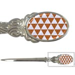 TRIANGLE3 WHITE MARBLE & RUSTED METAL Letter Openers Front