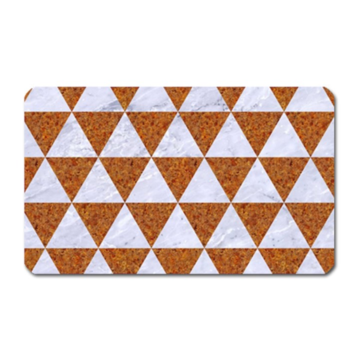 TRIANGLE3 WHITE MARBLE & RUSTED METAL Magnet (Rectangular)