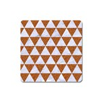 TRIANGLE3 WHITE MARBLE & RUSTED METAL Square Magnet Front