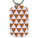 TRIANGLE3 WHITE MARBLE & RUSTED METAL Dog Tag (One Side) Front