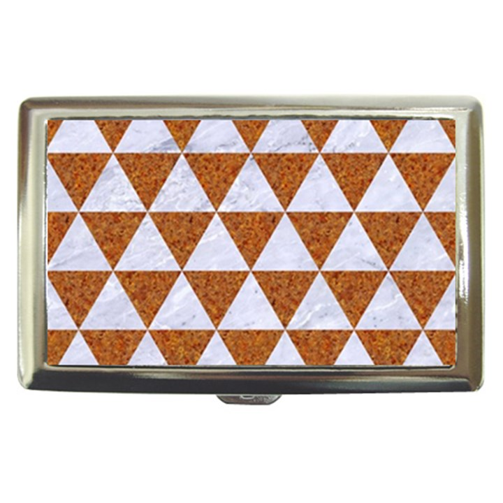 TRIANGLE3 WHITE MARBLE & RUSTED METAL Cigarette Money Cases
