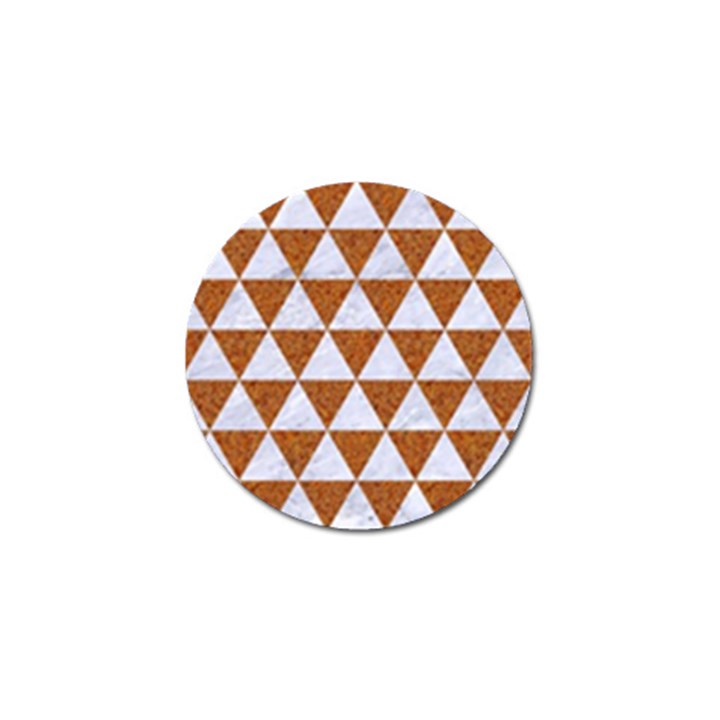 TRIANGLE3 WHITE MARBLE & RUSTED METAL Golf Ball Marker (4 pack)