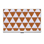 TRIANGLE3 WHITE MARBLE & RUSTED METAL Business Card Holders Front