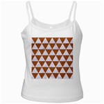 TRIANGLE3 WHITE MARBLE & RUSTED METAL Ladies Camisoles Front