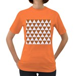 TRIANGLE3 WHITE MARBLE & RUSTED METAL Women s Dark T-Shirt Front