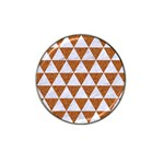 TRIANGLE3 WHITE MARBLE & RUSTED METAL Hat Clip Ball Marker (4 pack) Front