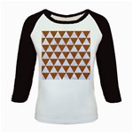 TRIANGLE3 WHITE MARBLE & RUSTED METAL Kids Baseball Jerseys Front