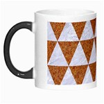 TRIANGLE3 WHITE MARBLE & RUSTED METAL Morph Mugs Left