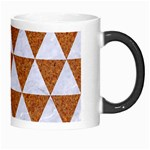 TRIANGLE3 WHITE MARBLE & RUSTED METAL Morph Mugs Right