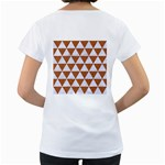 TRIANGLE3 WHITE MARBLE & RUSTED METAL Women s Loose-Fit T-Shirt (White) Back