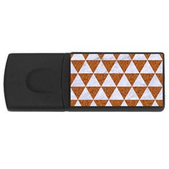 Triangle3 White Marble & Rusted Metal Rectangular Usb Flash Drive