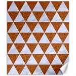 TRIANGLE3 WHITE MARBLE & RUSTED METAL Canvas 8  x 10  10.02 x8 Canvas - 1