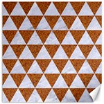 TRIANGLE3 WHITE MARBLE & RUSTED METAL Canvas 16  x 16   16 x16 Canvas - 1