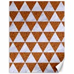 TRIANGLE3 WHITE MARBLE & RUSTED METAL Canvas 18  x 24   24 x18 Canvas - 1