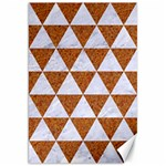 TRIANGLE3 WHITE MARBLE & RUSTED METAL Canvas 20  x 30   30 x20 Canvas - 1