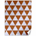 TRIANGLE3 WHITE MARBLE & RUSTED METAL Canvas 36  x 48   48 x36 Canvas - 1