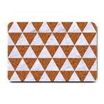 TRIANGLE3 WHITE MARBLE & RUSTED METAL Small Doormat  24 x16 Door Mat - 1