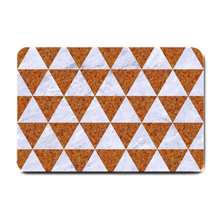 TRIANGLE3 WHITE MARBLE & RUSTED METAL Small Doormat
