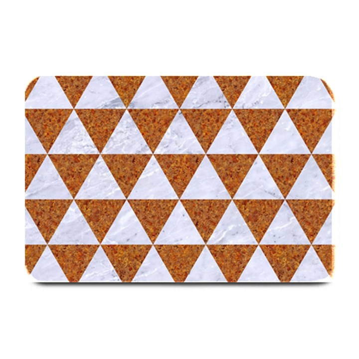 TRIANGLE3 WHITE MARBLE & RUSTED METAL Plate Mats