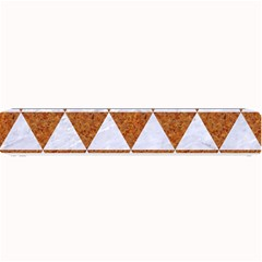 Triangle3 White Marble & Rusted Metal Small Bar Mats