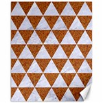 TRIANGLE3 WHITE MARBLE & RUSTED METAL Canvas 11  x 14   14 x11 Canvas - 1