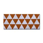 TRIANGLE3 WHITE MARBLE & RUSTED METAL Cosmetic Storage Cases Front