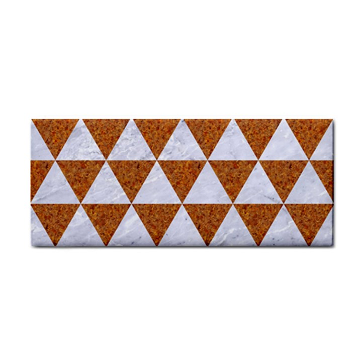 TRIANGLE3 WHITE MARBLE & RUSTED METAL Cosmetic Storage Cases