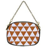 TRIANGLE3 WHITE MARBLE & RUSTED METAL Chain Purses (One Side)  Front