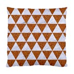 TRIANGLE3 WHITE MARBLE & RUSTED METAL Standard Cushion Case (One Side) Front