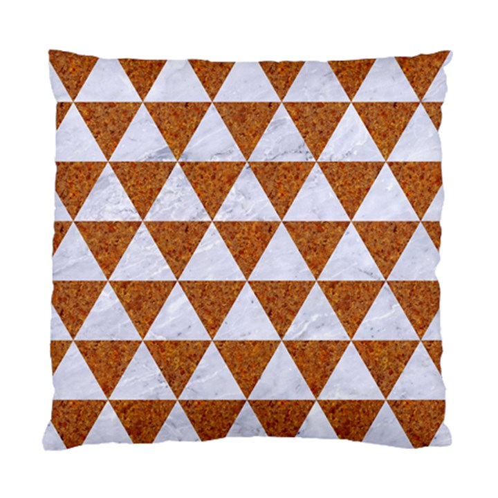 TRIANGLE3 WHITE MARBLE & RUSTED METAL Standard Cushion Case (One Side)