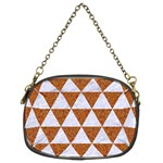 TRIANGLE3 WHITE MARBLE & RUSTED METAL Chain Purses (Two Sides)  Front