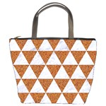 TRIANGLE3 WHITE MARBLE & RUSTED METAL Bucket Bags Front