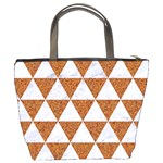 TRIANGLE3 WHITE MARBLE & RUSTED METAL Bucket Bags Back