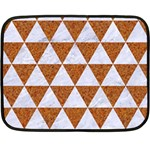 TRIANGLE3 WHITE MARBLE & RUSTED METAL Double Sided Fleece Blanket (Mini)  35 x27 Blanket Front